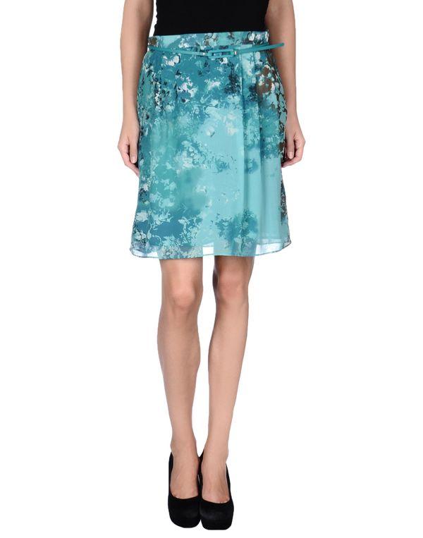 孔雀绿 LIU •JO 及膝半裙