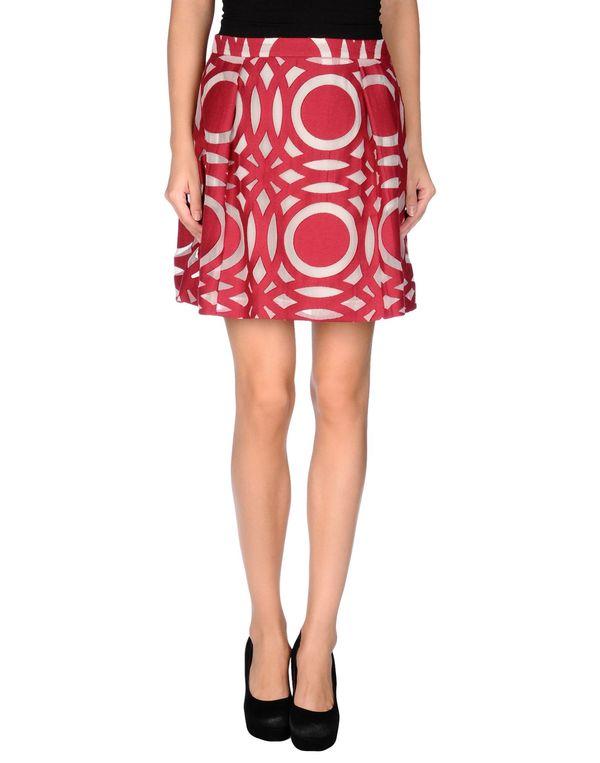 波尔多红 TONELLO 及膝半裙
