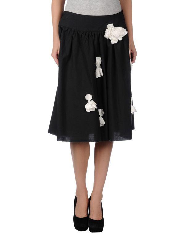 黑色 ...À_LA_FOIS... 及膝半裙