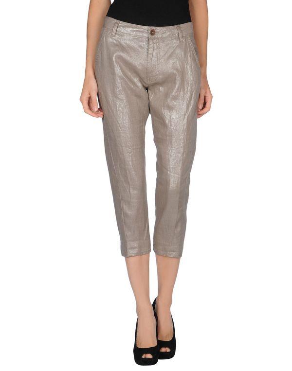 鸽灰色 GUESS 七分裤