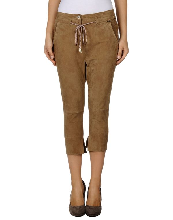 驼色 LIU •JO 七分裤