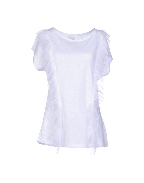 白色 PINK BOW T-shirt