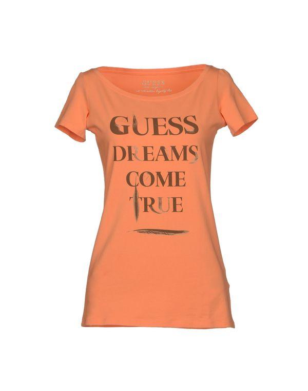 橙色 GUESS T-shirt