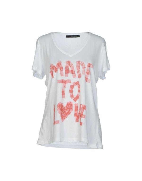 白色 CALVIN KLEIN JEANS T-shirt