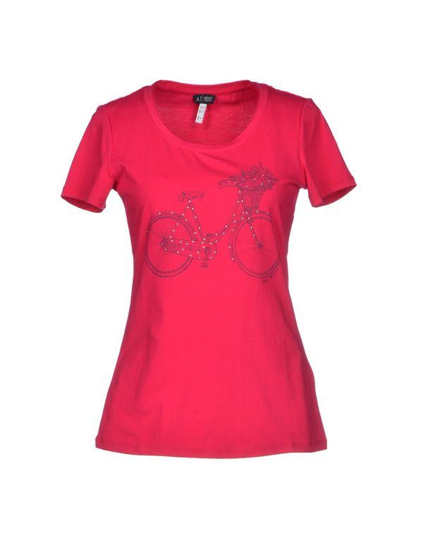 浅紫色 ARMANI JEANS T-shirt