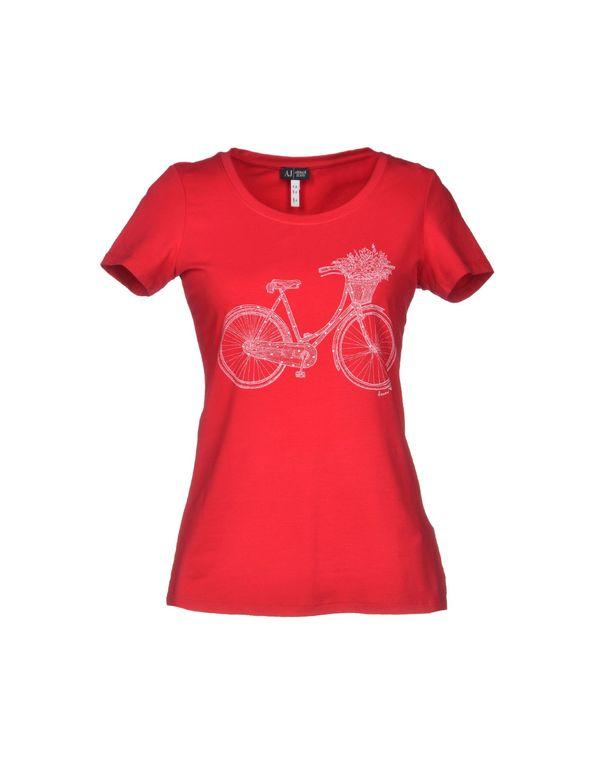 波尔多红 ARMANI JEANS T-shirt