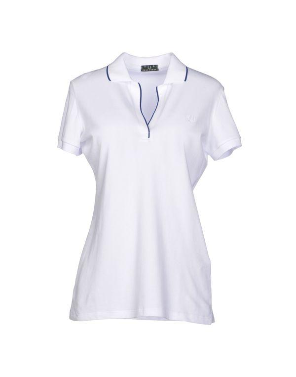 白色 FRED PERRY Polo衫