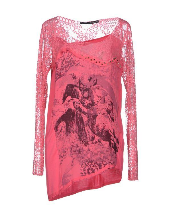 玫红色 ANNARITA N. T-shirt
