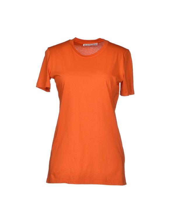 橙色 ACNE STUDIOS T-shirt
