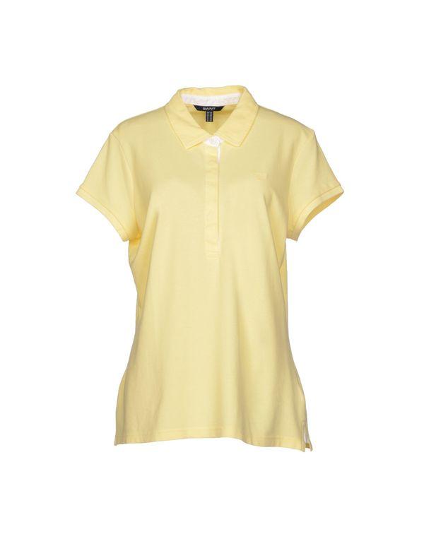 浅黄色 GANT Polo衫