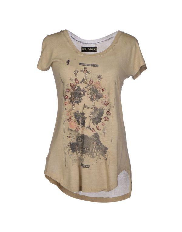 米色 RELIGION T-shirt