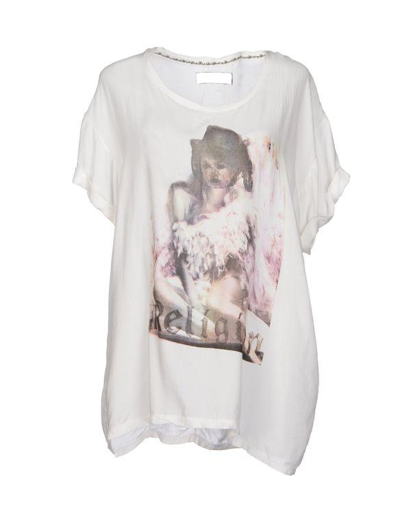 白色 RELIGION T-shirt