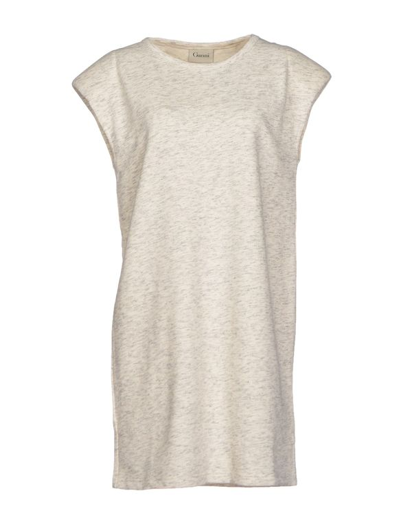 象牙白 GANNI 短款连衣裙