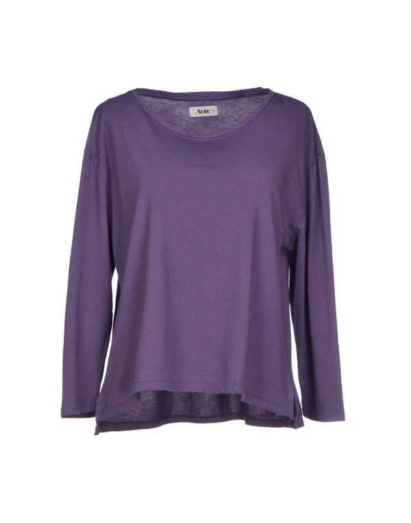 紫色 ACNE STUDIOS T-shirt