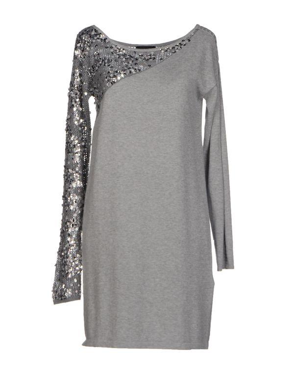 淡灰色 PINKO BLACK 短款连衣裙