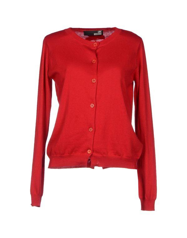 红色 LOVE MOSCHINO 针织开衫