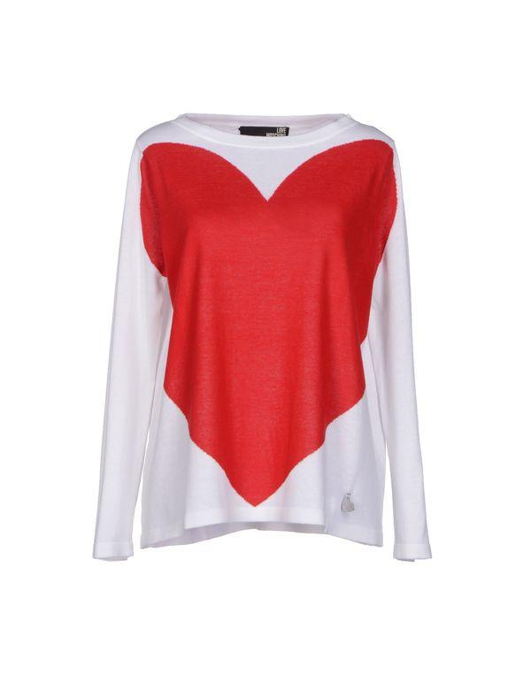 白色 LOVE MOSCHINO 套衫