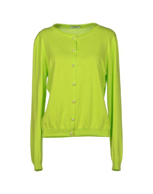 荧光绿 MOSCHINO CHEAPANDCHIC 针织开衫