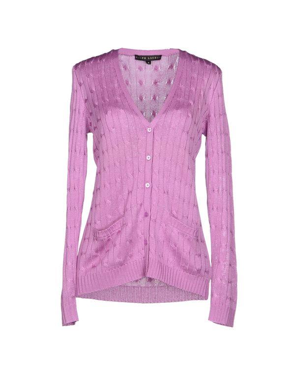 丁香紫 RALPH LAUREN BLACK LABEL 针织开衫