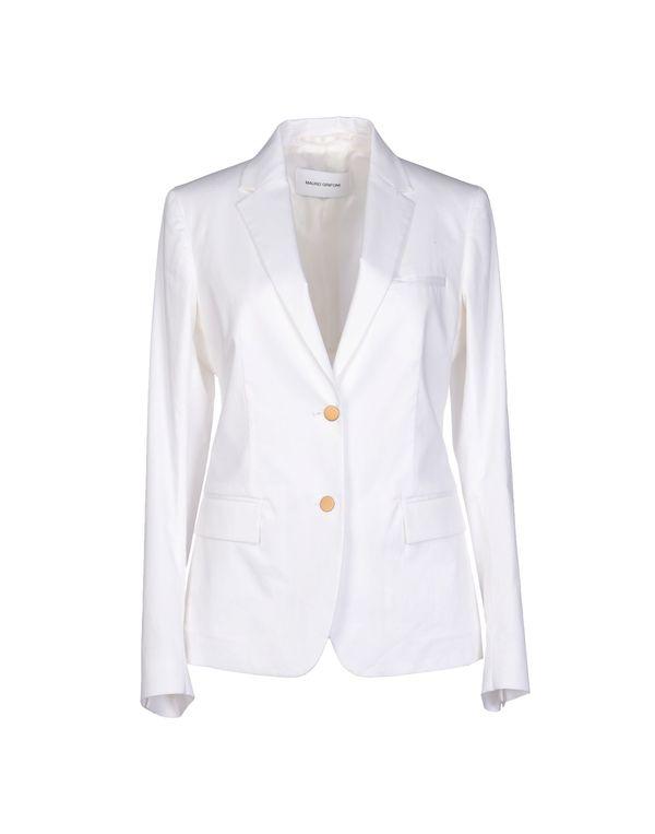 白色 MAURO GRIFONI 西装上衣