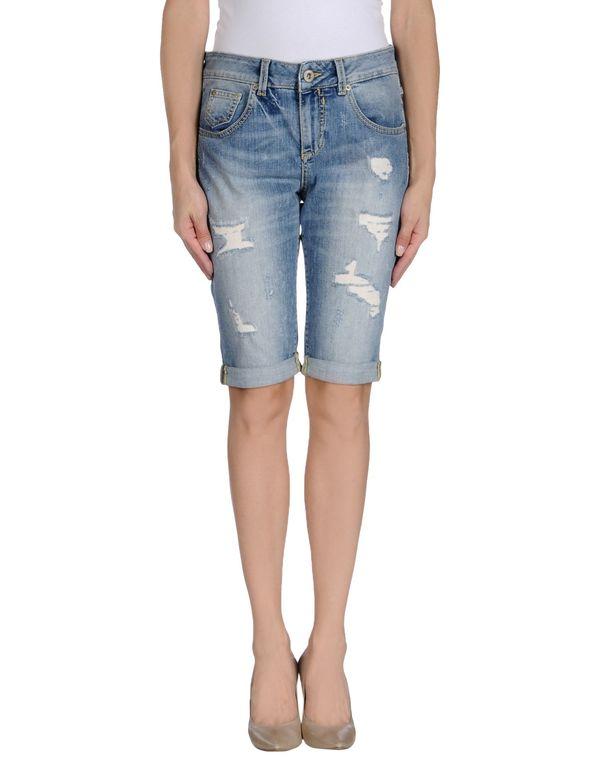 蓝色 GUESS 百慕大牛仔短裤
