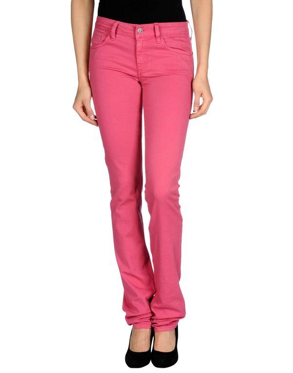 玫红色 LIU •JO JEANS 牛仔裤