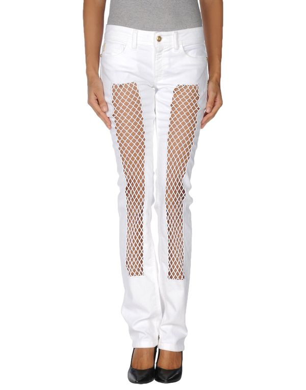 白色 JUST CAVALLI 牛仔裤