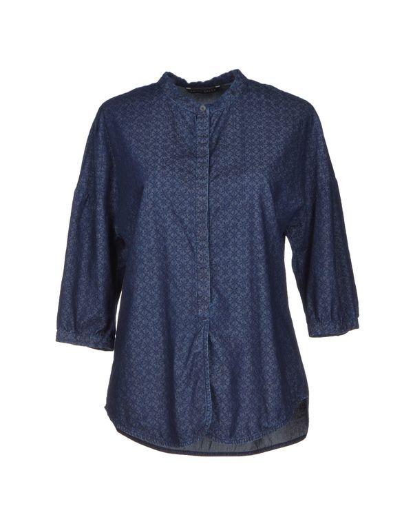 蓝色 BRIAN DALES 牛仔衬衫
