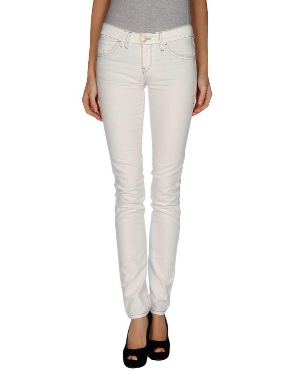 白色 EMPORIO ARMANI 牛仔裤