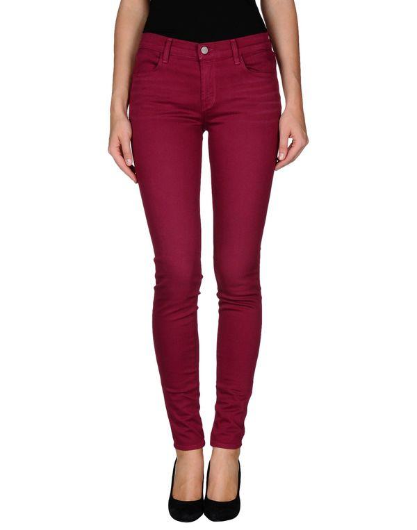 石榴红 J BRAND 牛仔裤