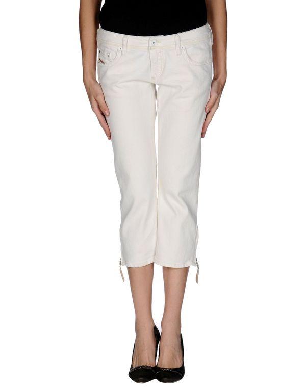 白色 DIESEL 牛仔七分裤