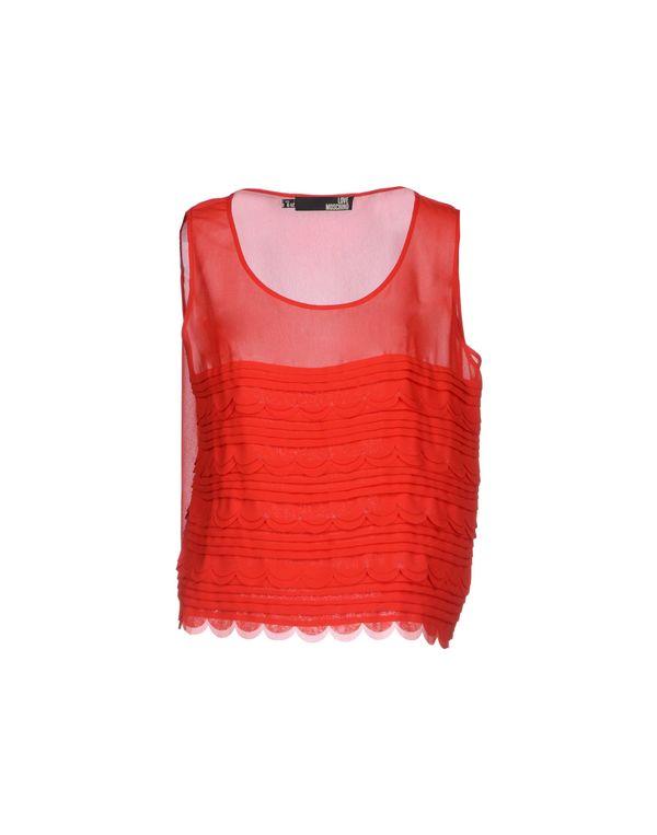 红色 LOVE MOSCHINO 上衣