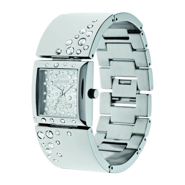 Stroili Oro STEEL系列 银色水晶腕表