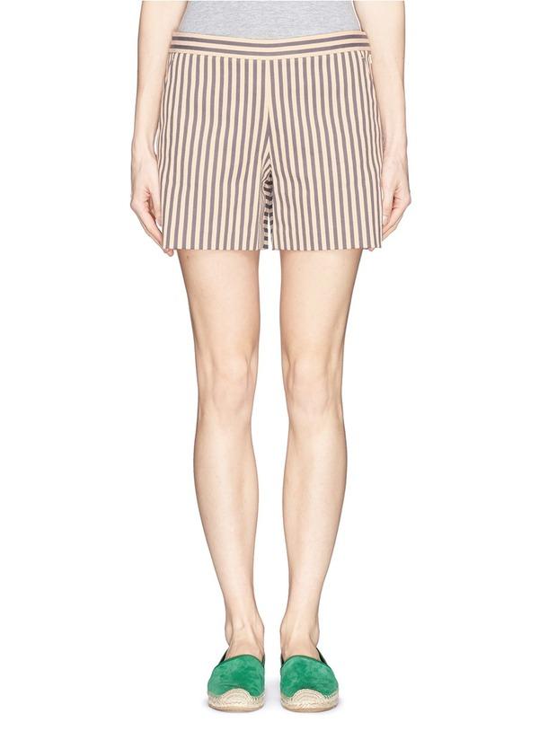 MARIT混棉条纹短裤