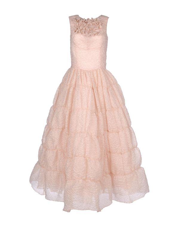 粉红色 ROCHAS 长款连衣裙