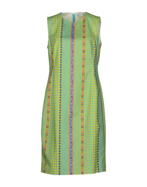 浅绿色 VERSACE 及膝连衣裙