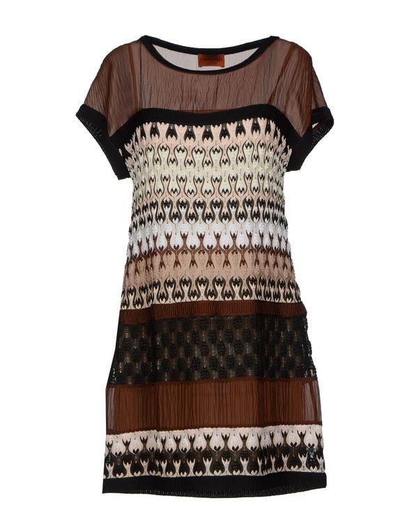 巧克力色 MISSONI 短款连衣裙