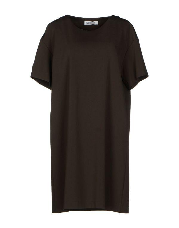 铅灰色 JIL SANDER 短款连衣裙