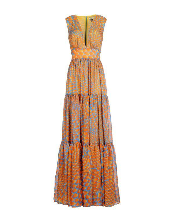 橙色 ISSA 长款连衣裙