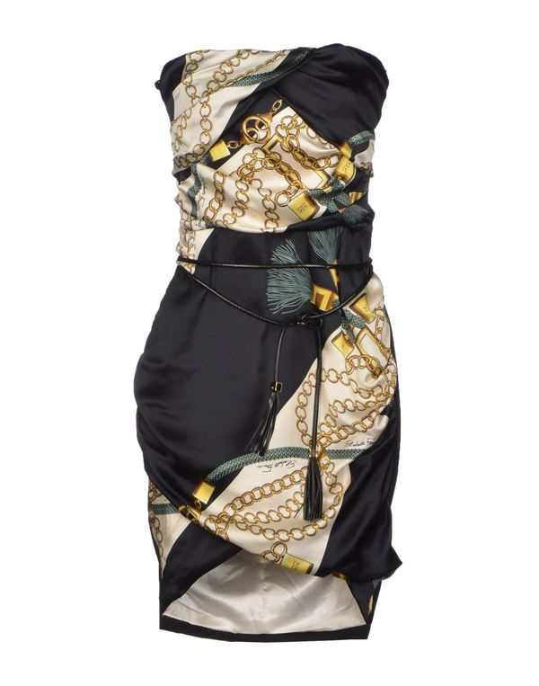 黑色 ELISABETTA FRANCHI 短款连衣裙