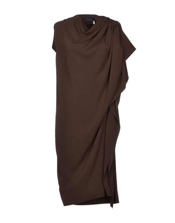 深棕色 LANVIN 及膝连衣裙