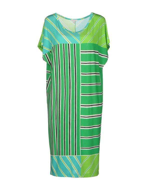 绿色 P.A.R.O.S.H. 及膝连衣裙