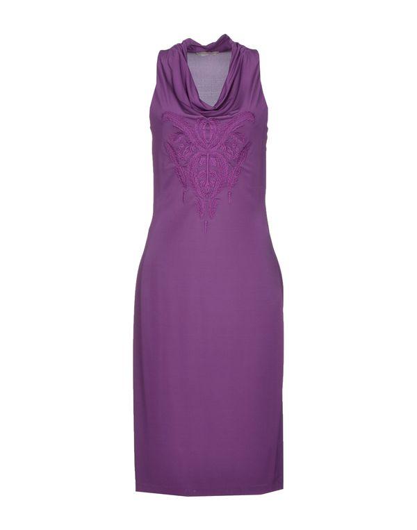 紫红 SCERVINO STREET 及膝连衣裙