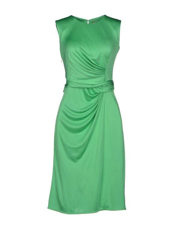 浅绿色 ISSA 及膝连衣裙