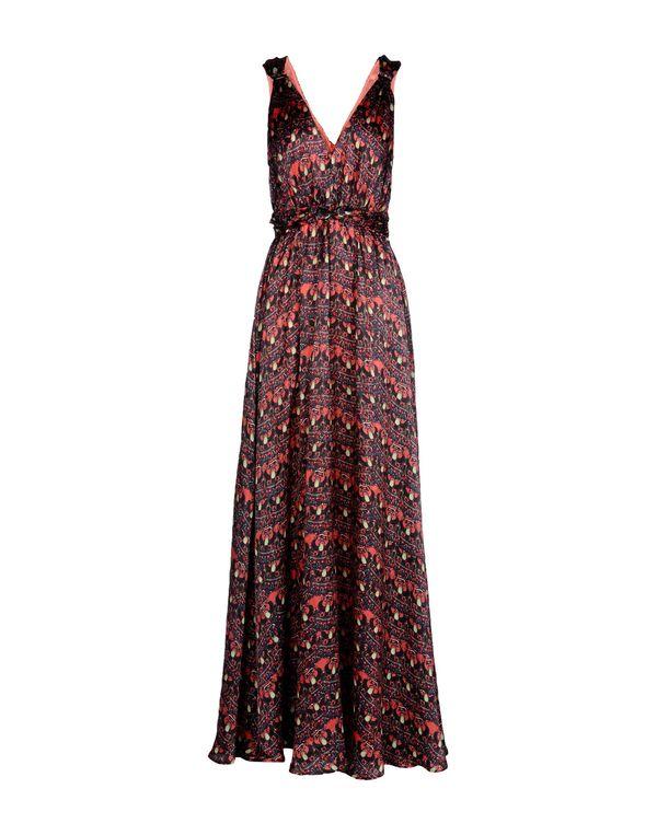 红色 ISSA 长款连衣裙