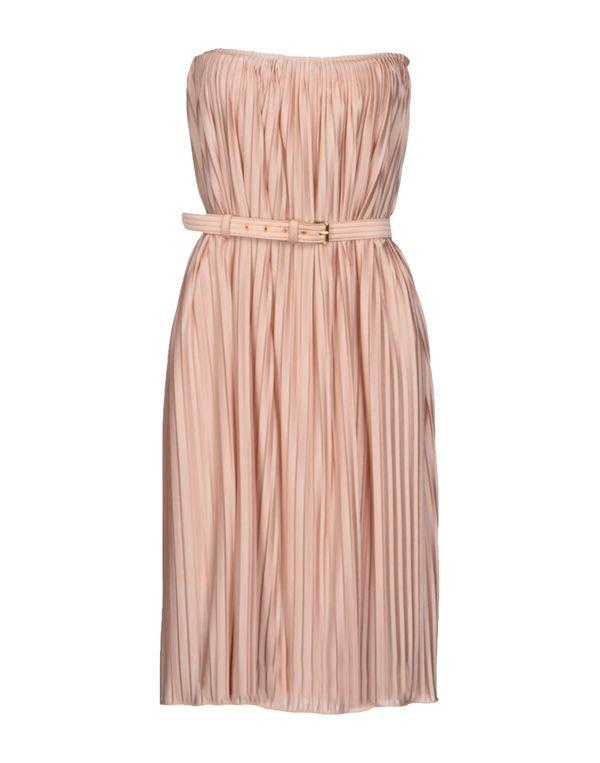 粉红色 ANNA MOLINARI 及膝连衣裙