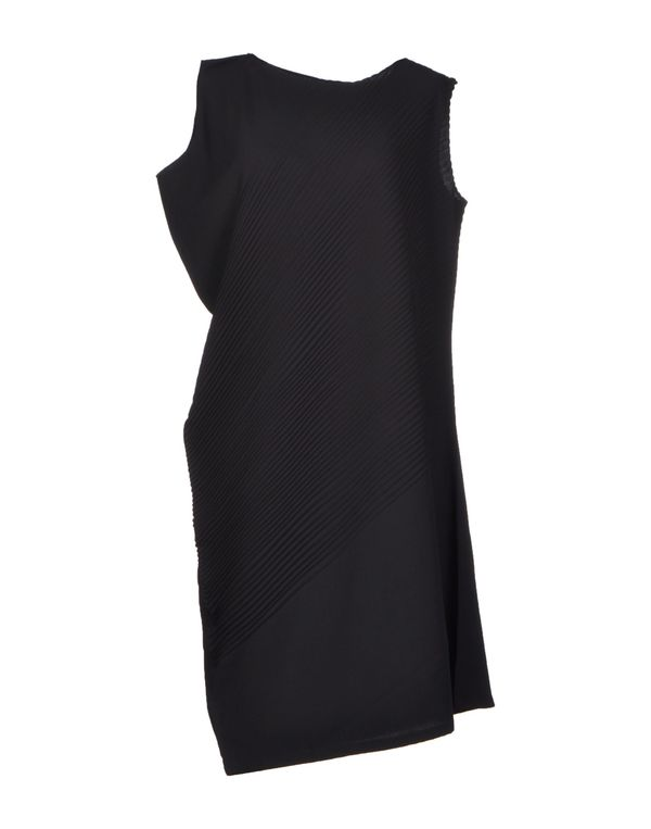 黑色 ISSEY MIYAKE 及膝连衣裙