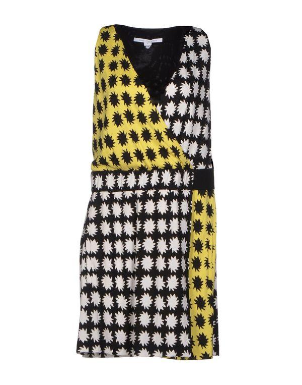 黄色 DIANE VON FURSTENBERG 短款连衣裙