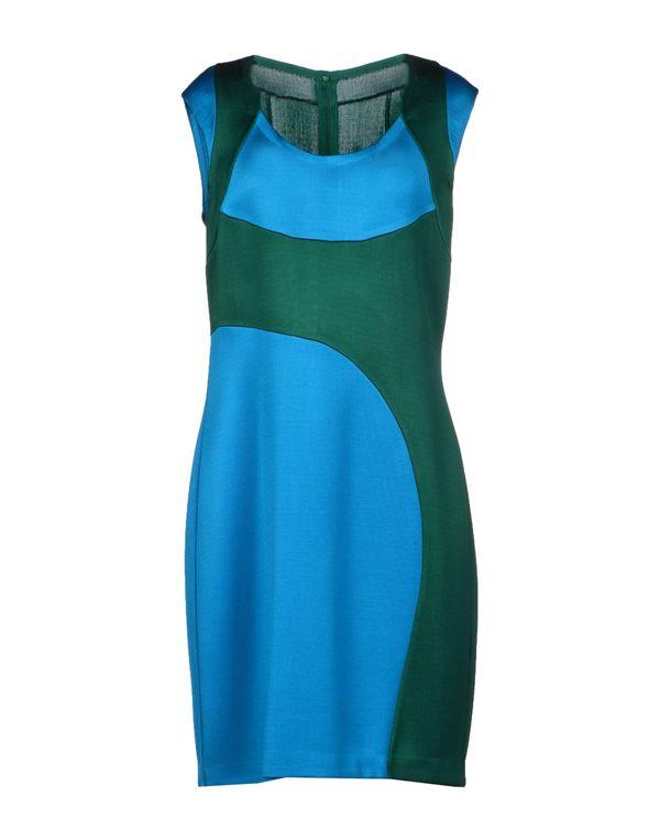 祖母绿 PRADA 短款连衣裙