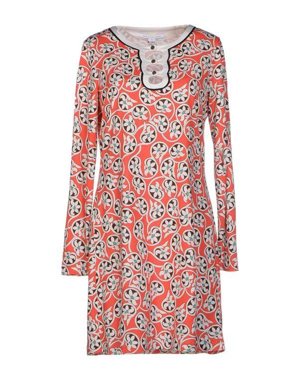 珊瑚红 DIANE VON FURSTENBERG 短款连衣裙